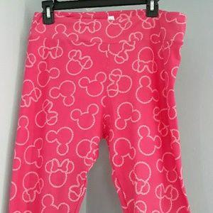 LulaRoe Disney Mickey & Minnie Pink Leggings Tall